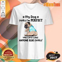 I'm Perfect Pug I Love Mom Tattoos V-neck