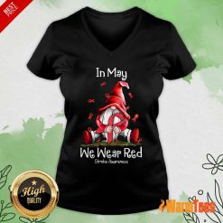 In May We Wear Red Stroke Awareness V-neck