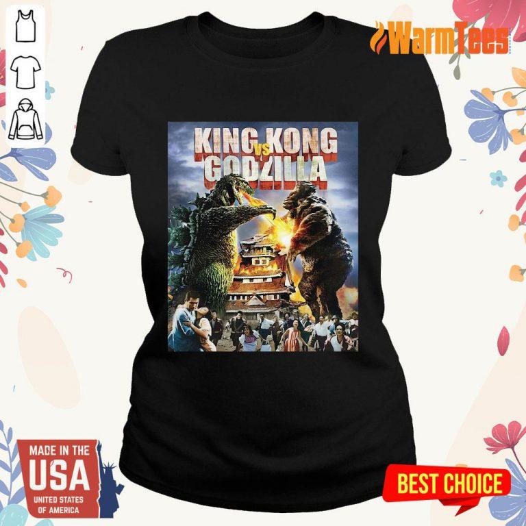 King Kong Vs Godzilla Ladies Tee