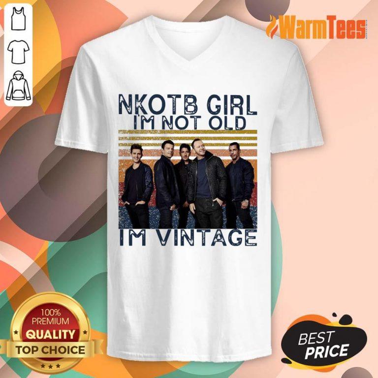 NKOTB Girl I'm Not Old I'm Vintage V-neck