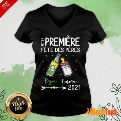 Notre Premiere Fete Des Peres 2021 V-neck