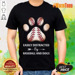 Paw By Baseball And Dogs Shirt