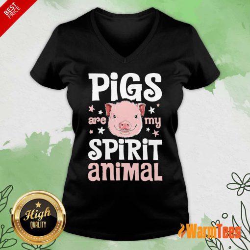 Pigs Are My Spirit Animal V-neck