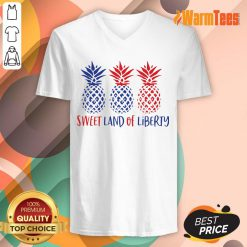 Pineapple Sweet Land Of Liberty V-neck