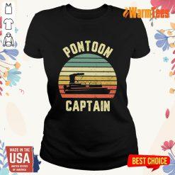 Pontoon Captain Vintage Ladies Tee
