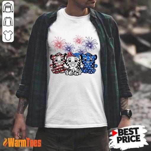Tiger American Flag Firework Shirt