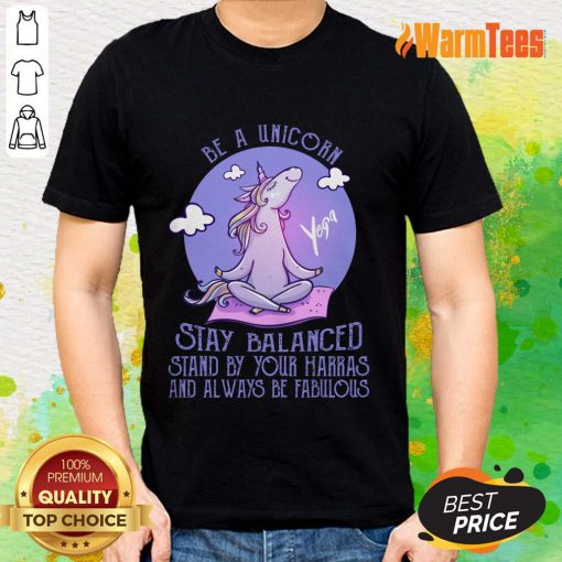 Yoga Be A Unicorn Stay Balanced Shirt