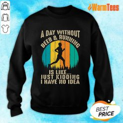 A Day Without Beer And Running Vintage Sweater