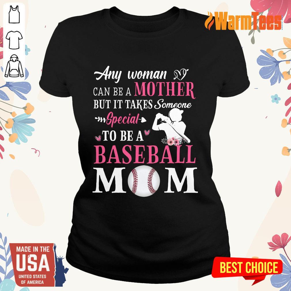 Any Woman Mother Baseball Mom Ladies Tee