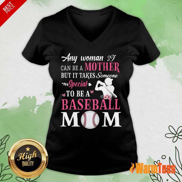 Any Woman Mother Baseball Mom V-neck