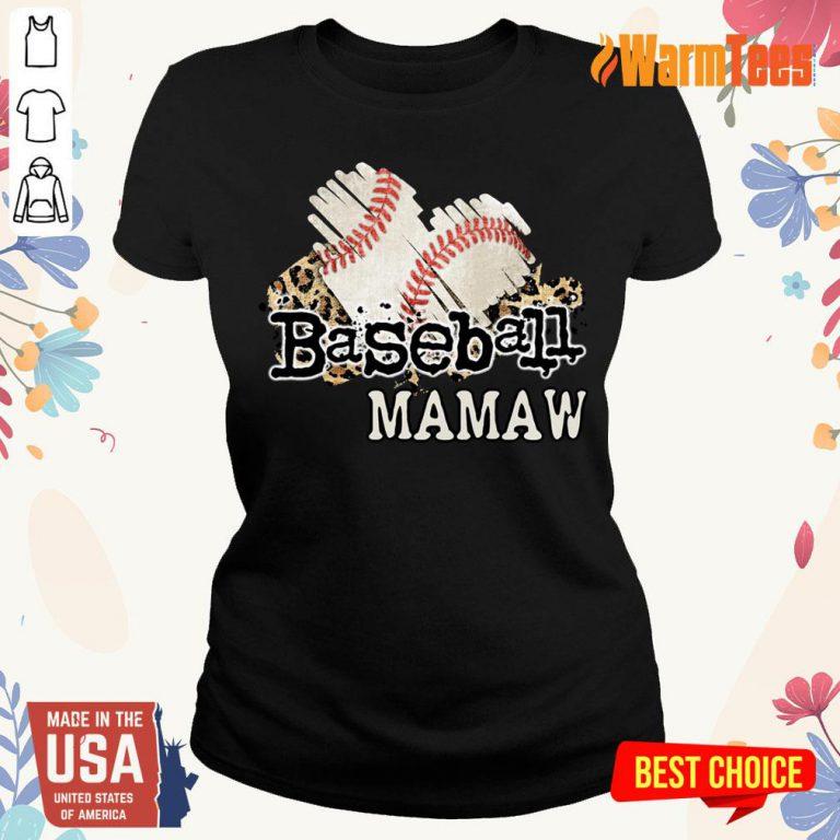 Baseball Mamaw Ladies Tee
