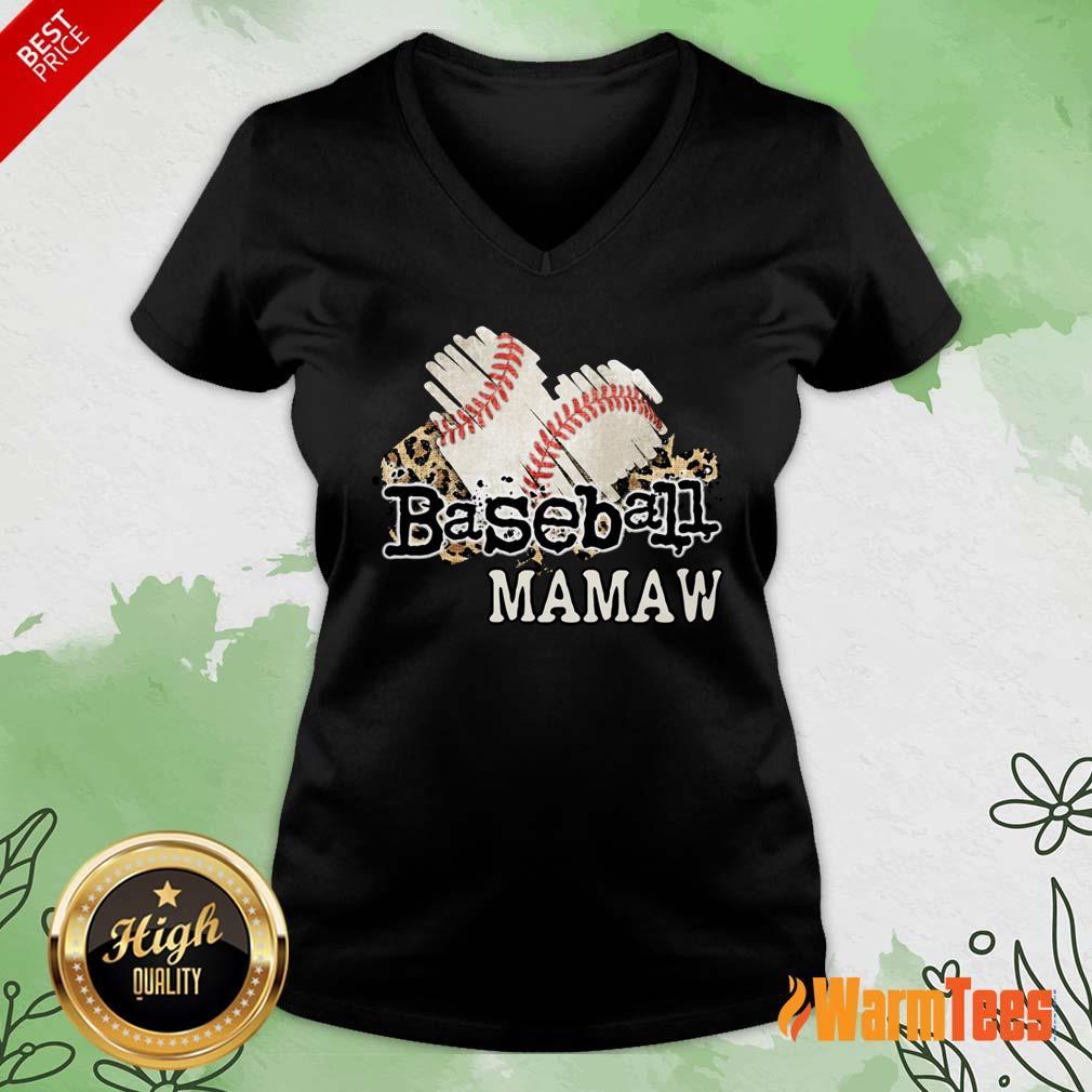 Baseball Mamaw V-neck