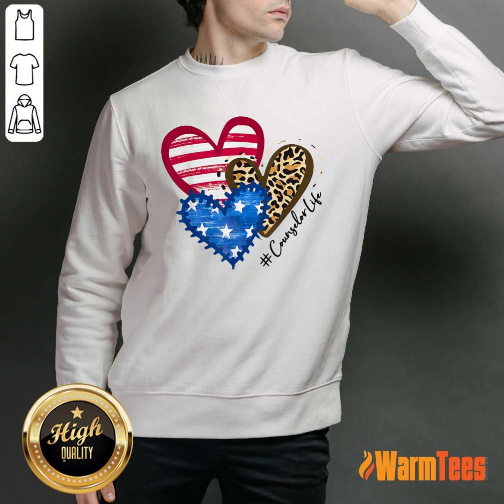 Counselor Life Heart Sweater
