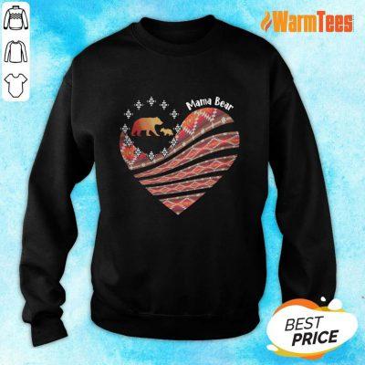Heart Mama Bear Mother Day Sweater