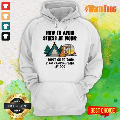 How To Avoid Stress At Work Camping Hoodie