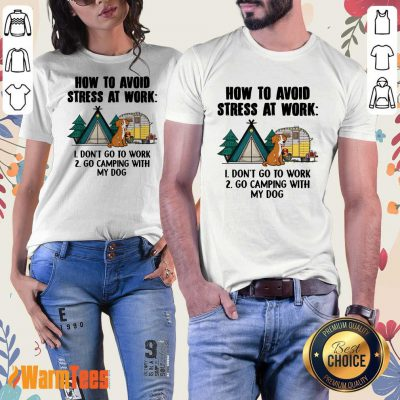 How To Avoid Stress At Work Camping Ladies Tee