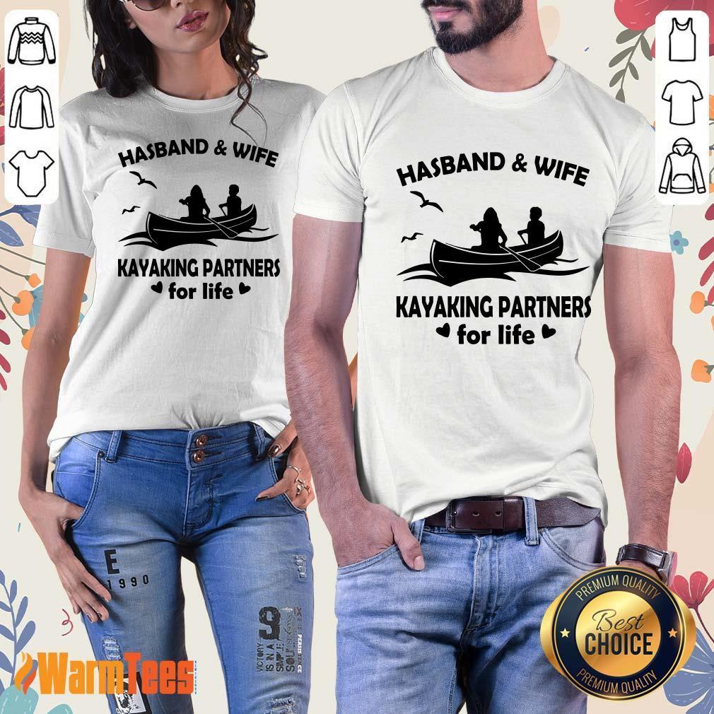 Husband And Wife Kayaking Partners Ladies Tee