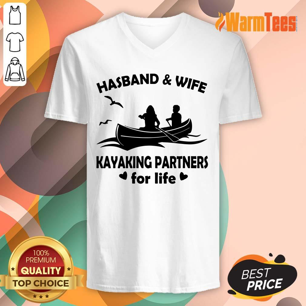 Husband And Wife Kayaking Partners V-neck