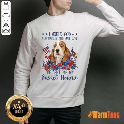I Asked God Basset Hound Sweater