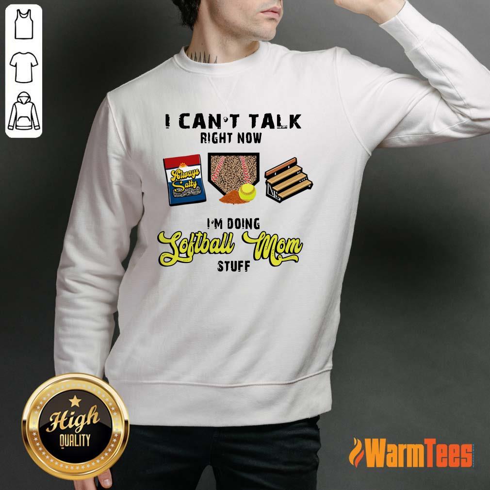 I Can't Talk Softball Mom Sweater
