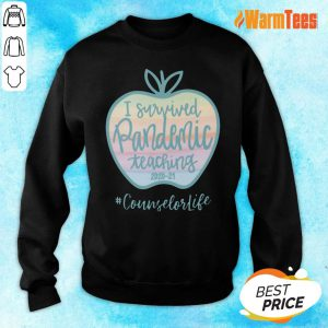 I Survived Pandemic Teaching 2020 21 Apple Counselor Life Sweater