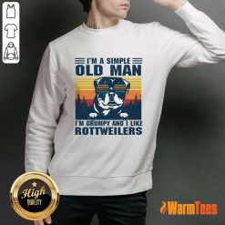 I'm A Simple Old Man Rottweiler Sweater