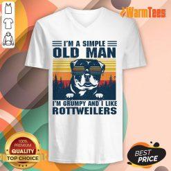 I'm A Simple Old Man Rottweiler V-neck