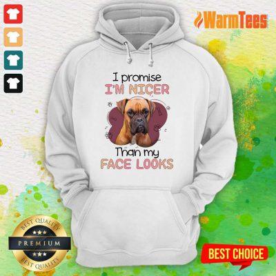 I'm Nicer Than My Face Looks Pug Dog Hoodie