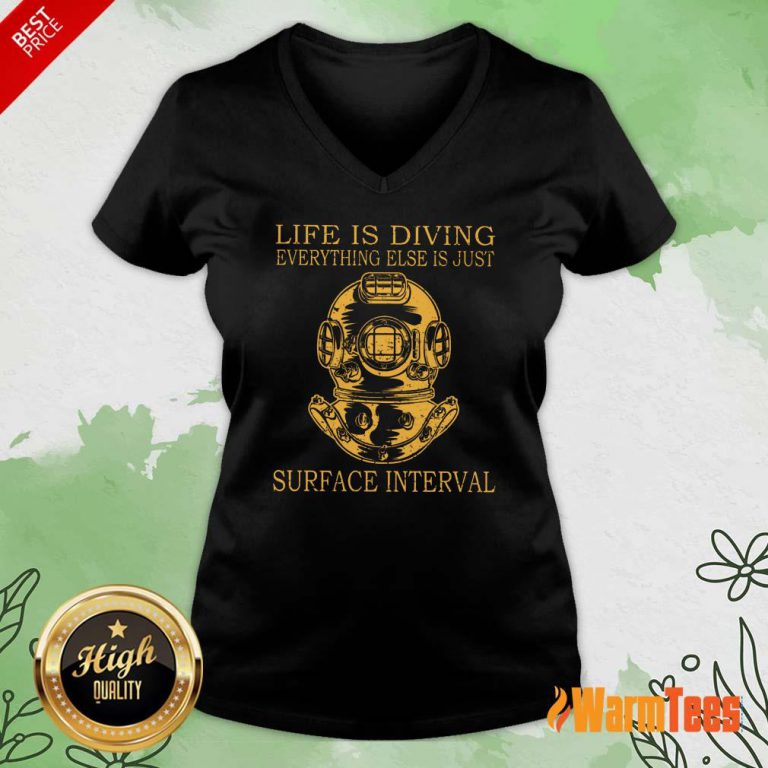 Life Is Diving Surface Interval V-neck