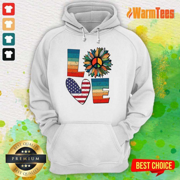 Love American Flag Vintage Hoodie