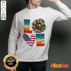 Love American Flag Vintage Sweater