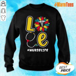 Love Sunflower Nurse Life Sweater