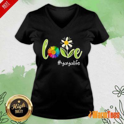 Love Yaya Life Flower Artistry V-neck