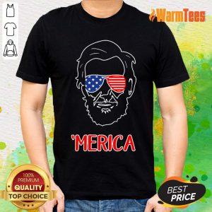 Merica Abraham Lincoln American Flag Shirt