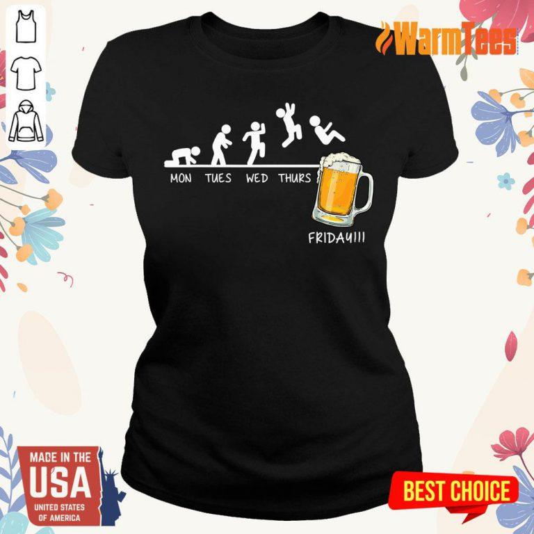 Monday Tuesday Friday Beer Ladies Tee
