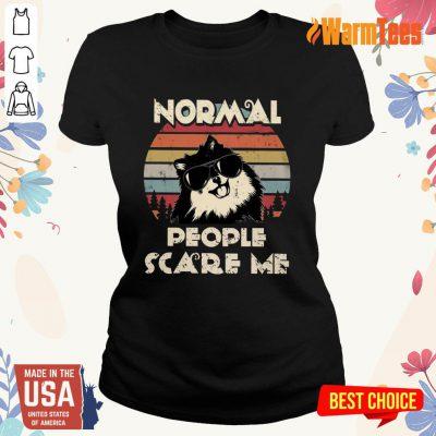 Normal People Scare Me Dog Vintage Ladies Tee