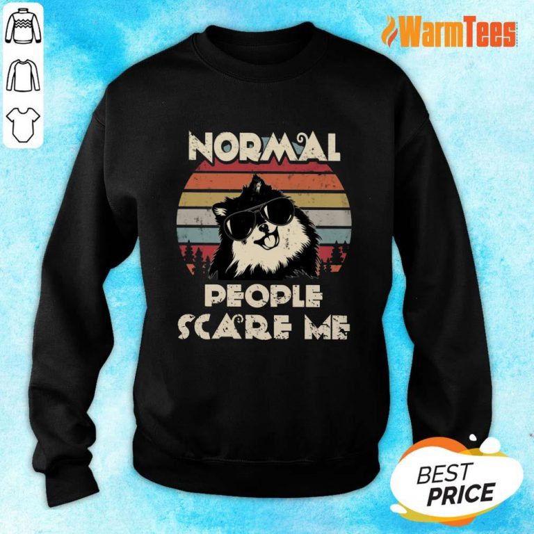 Normal People Scare Me Dog Vintage Sweater