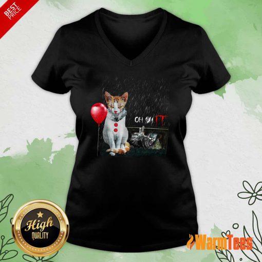 Oh IT Cat V-neck