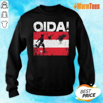Oida Austria Football Team Fan Soccer Flag Sweater