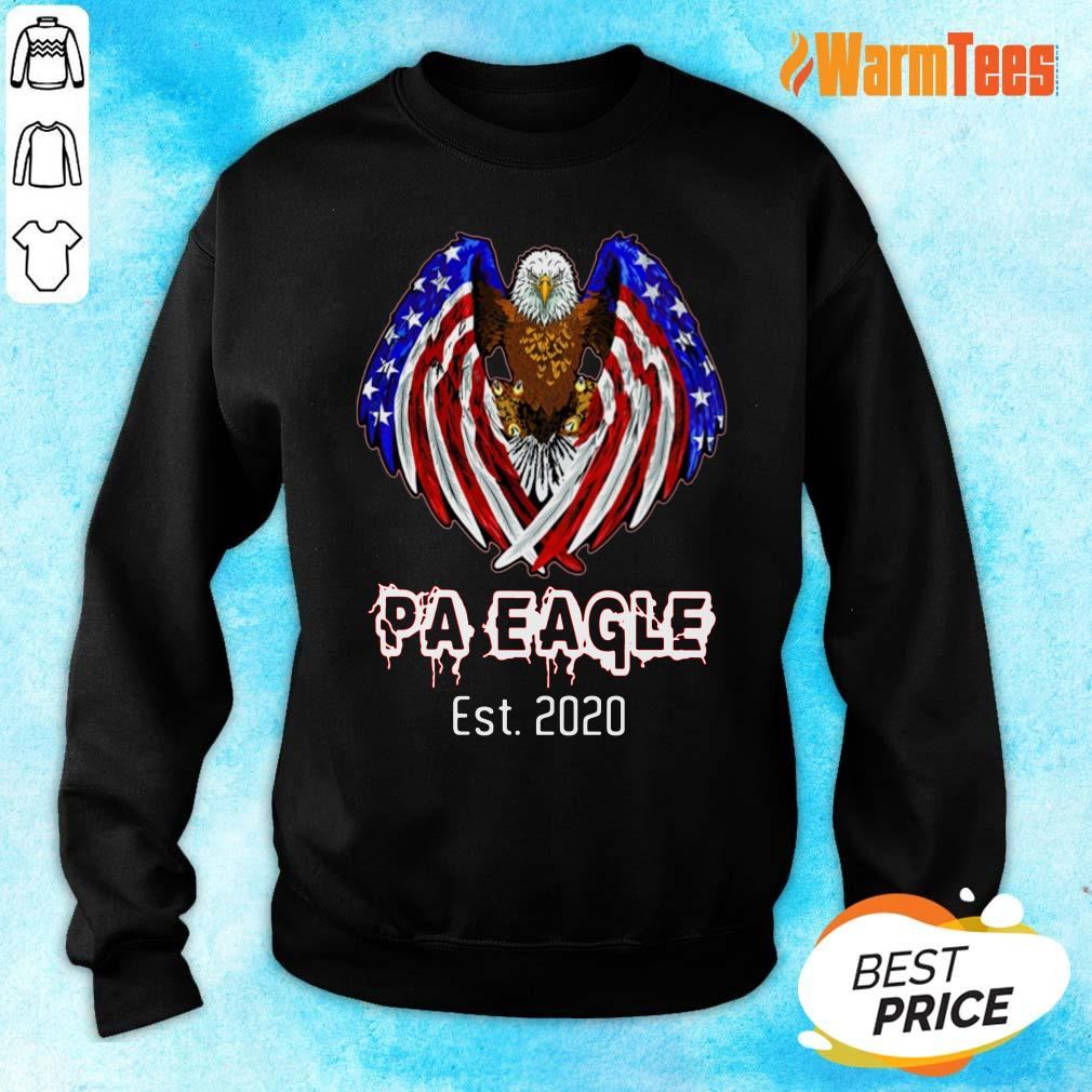 Pa Eagle American Flag Est 2020 Sweater