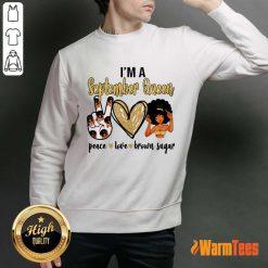 September Queen Peace Love Brown Sugar Sweater