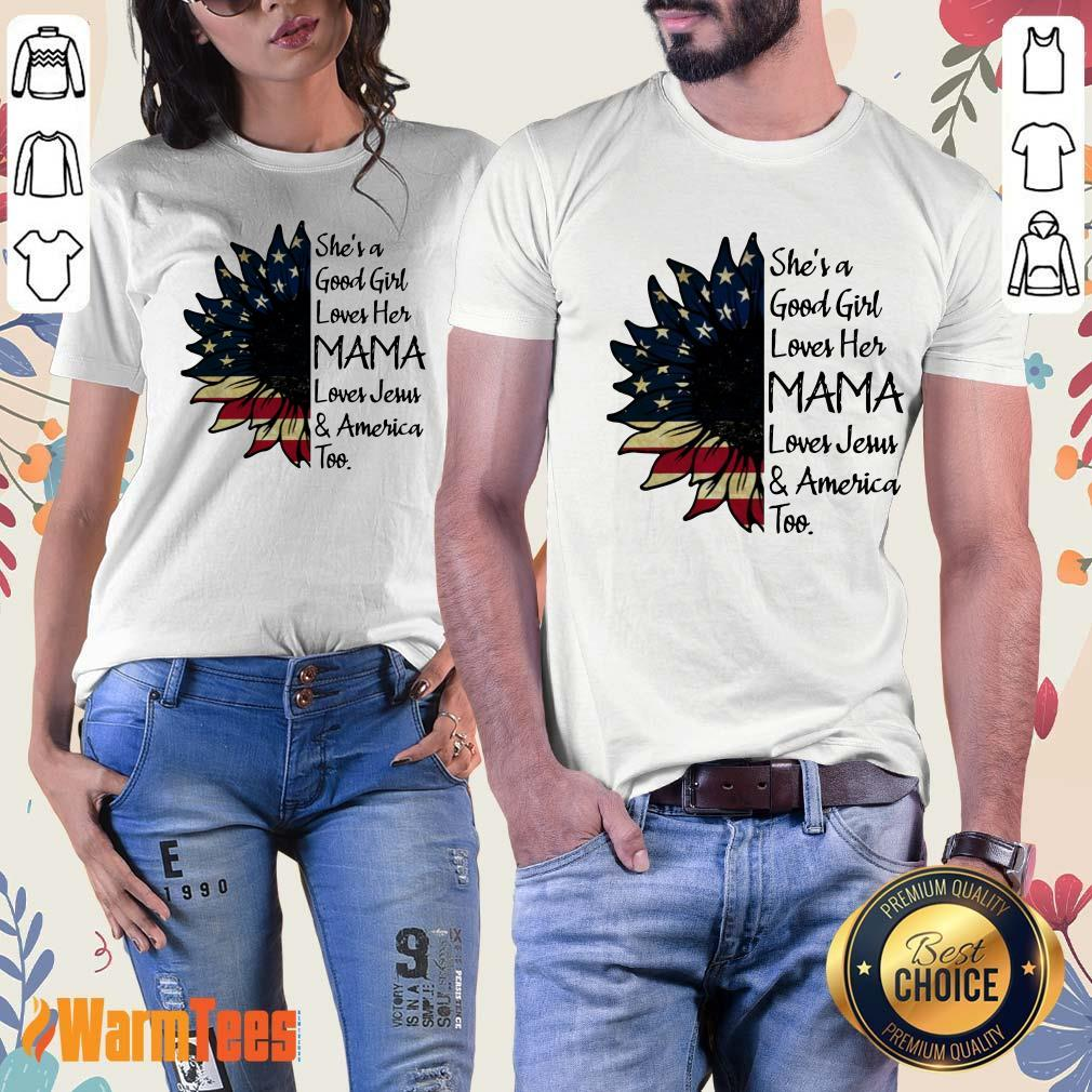 She's A Loves Her Mama Sunflower Ladies Tee