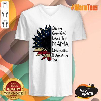 She's A Loves Her Mama Sunflower V-neck