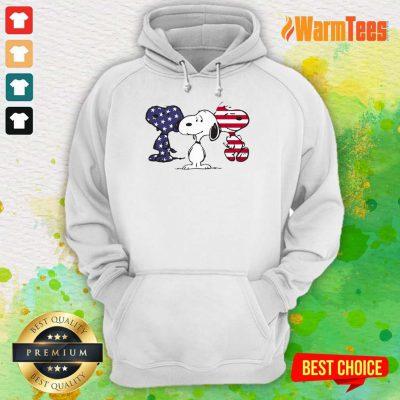 Snoopy American Flag Hoodie