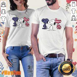 Snoopy American Flag Ladies Tee