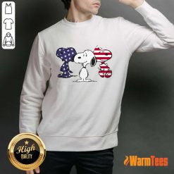 Snoopy American Flag Sweater
