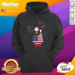 Snoopy And Charlie Brown American Flag Hoodie