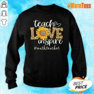 Teach Love Inspire Sunflower Math Teacher Sweater