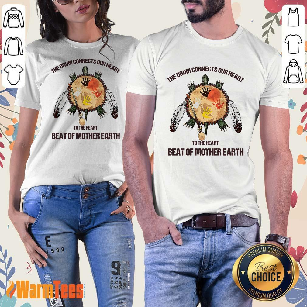 The Drum Connects Beat Of Mother Earth Ladies Tee