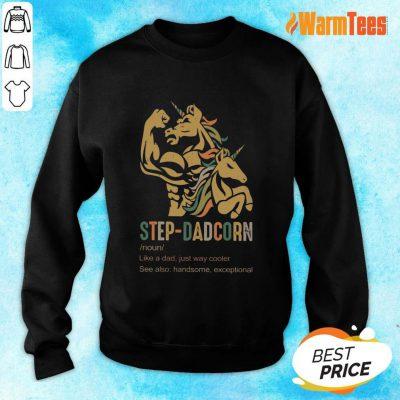 Unicorn Step-dadcorn Vintage Sweater